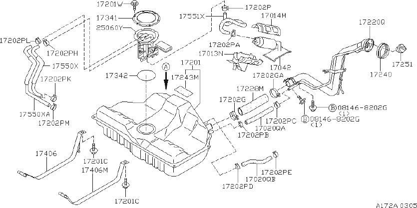 INFINITI I30 Fuel Tank Cap - 17251-F9912 | INFINITI, Oxnard CA