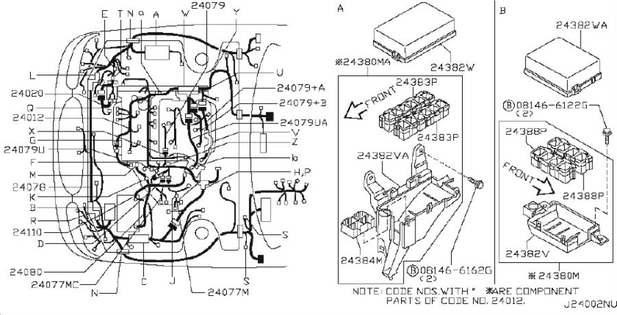 Infiniti I35 Harness Egi Sub  Position Sensor   Fitting  Room  Engine