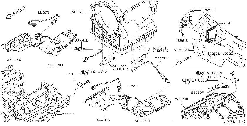 Infiniti Ex35 Oxygen Sensor
