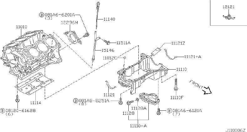 INFINITI QX4 Engine Oil Pan. ASSEMBLY - 11111-4W000 ...