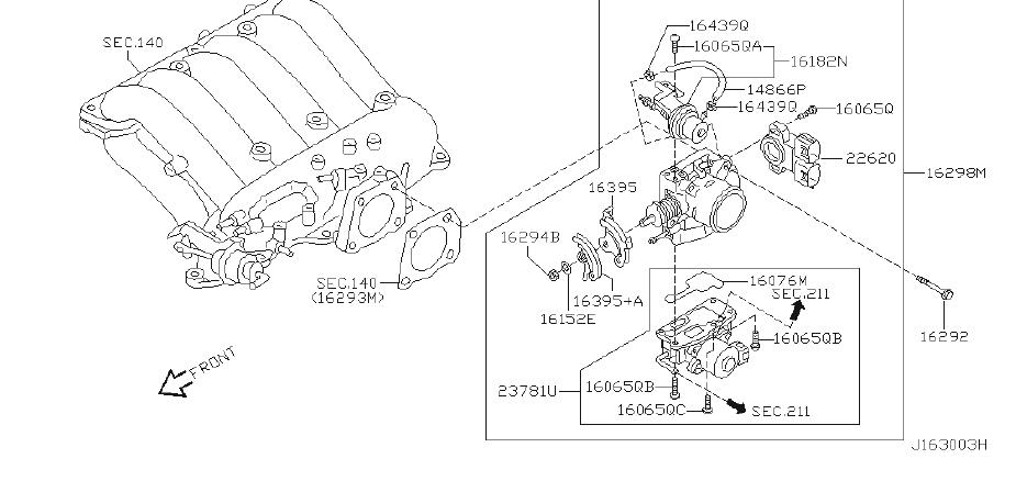 Infiniti Qx4 Throttle Position Sensor  Model  Year
