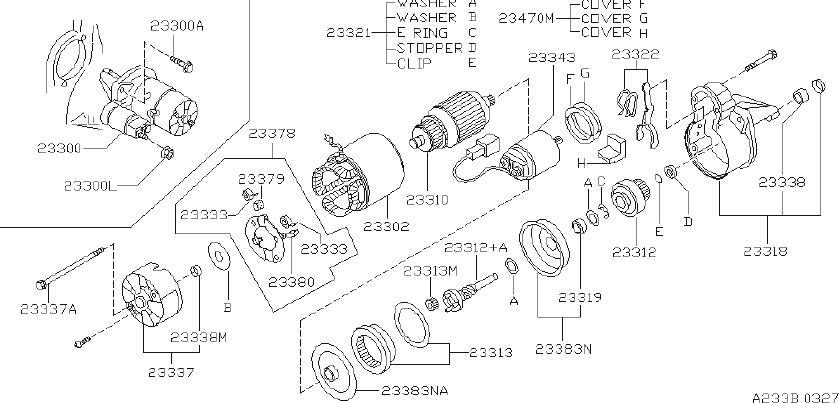 infiniti g20 starter motor  hitachi