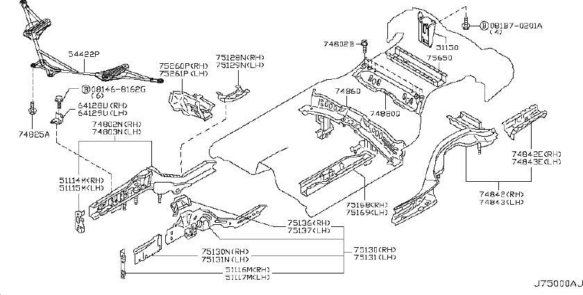 Infiniti G35 Suspension Strut Brace  Front
