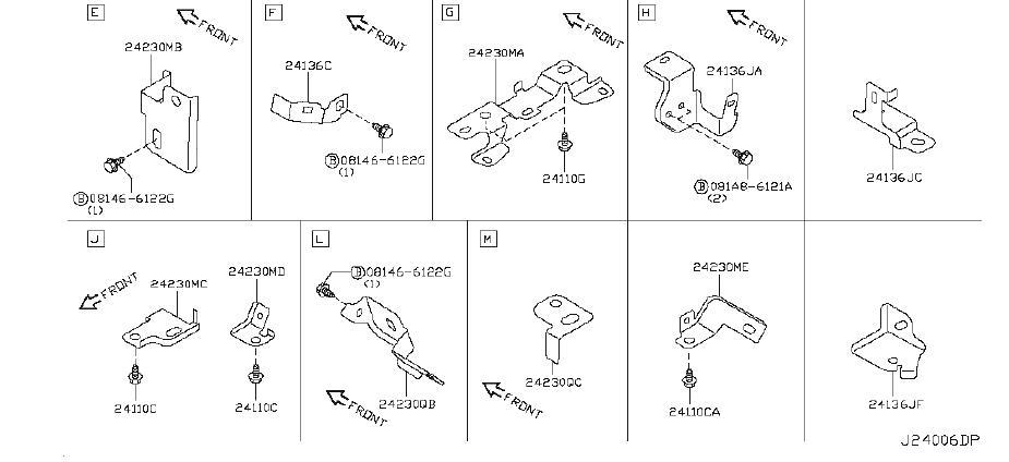 Infiniti G37 Engine Wiring Harness  Body  Fitting  Room